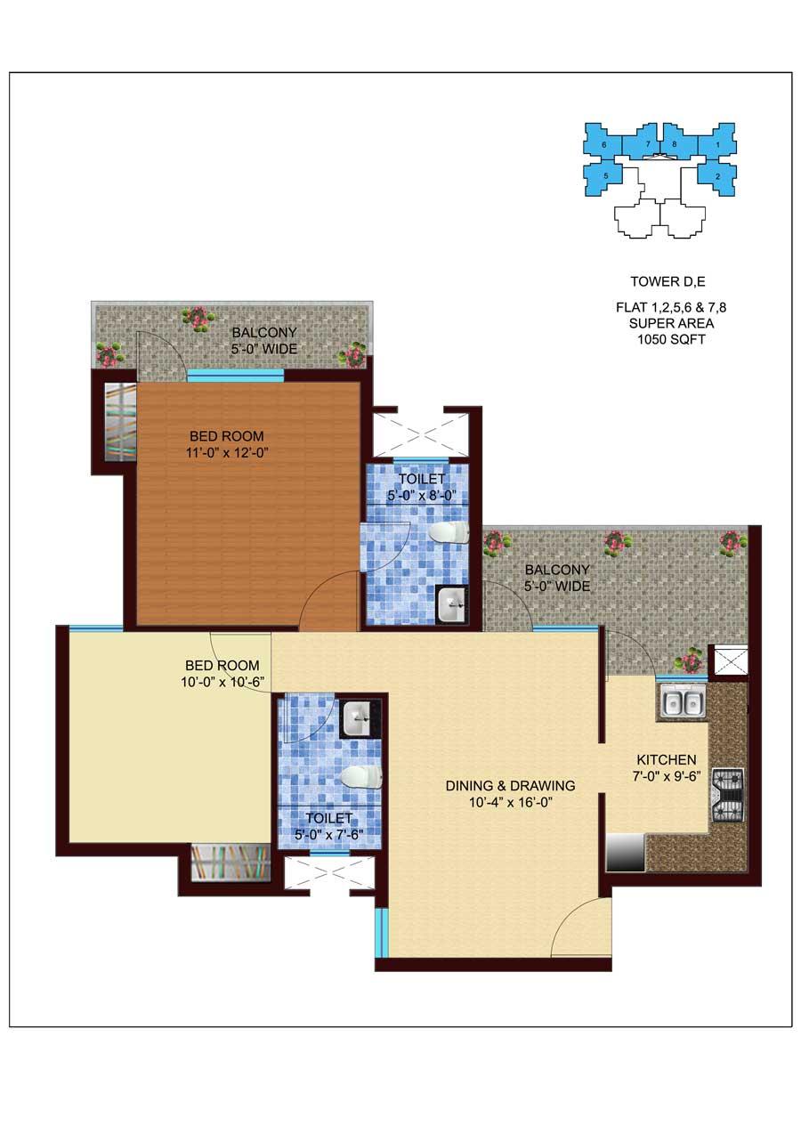 unnati fortune the aranya apartment 2bhk 1050sqft 1