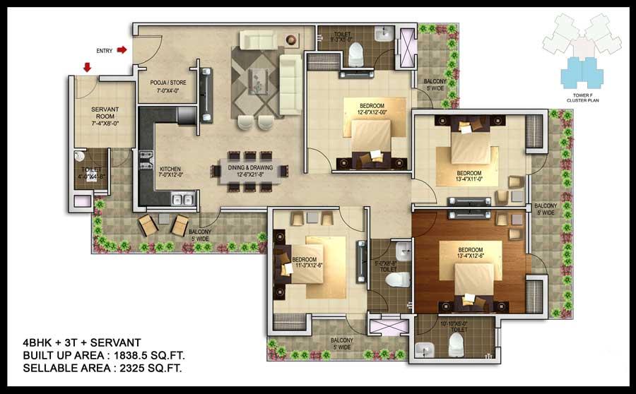 unnati fortune the aranya apartment 4bhk sq 2325sqft 1