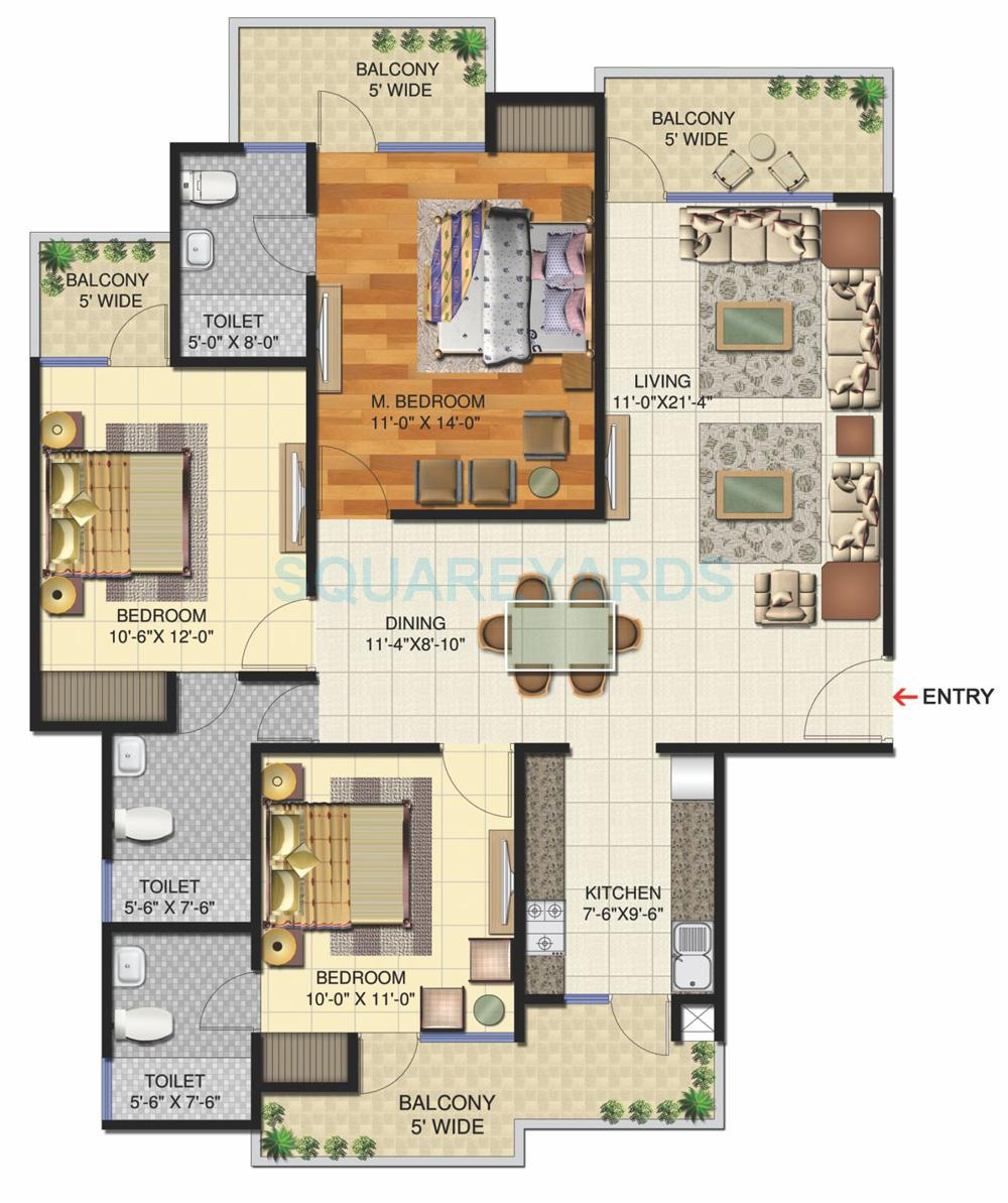 victory ace apartment 3bhk 1695sqft 1