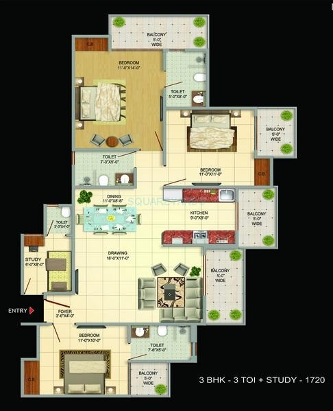 victoryone amara apartment 3bhk st 1720sqft 51