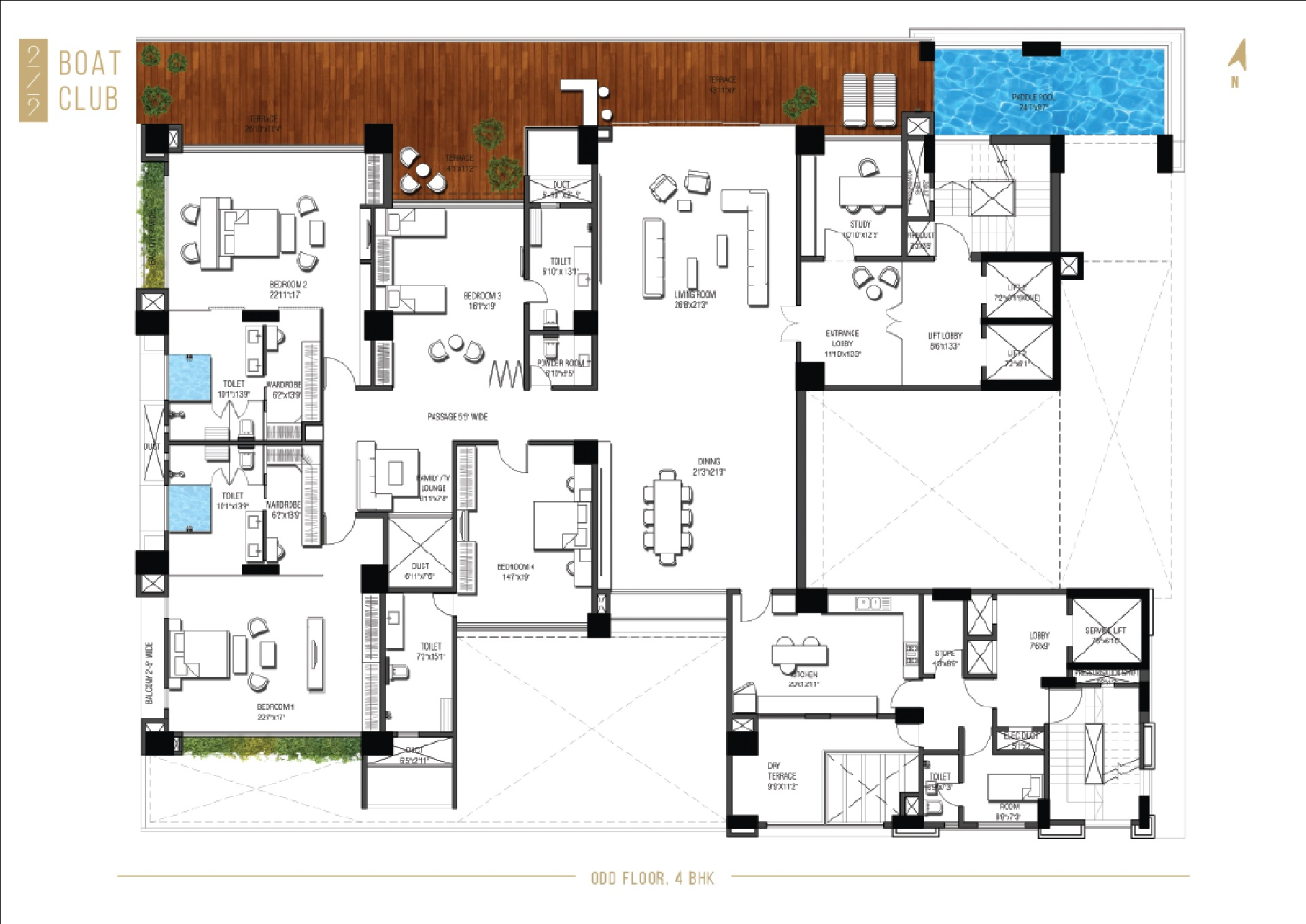 219 boat club project floor plans1
