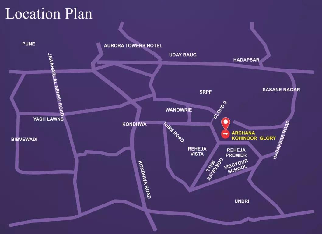 archana kohinoor glory phase ii location image4