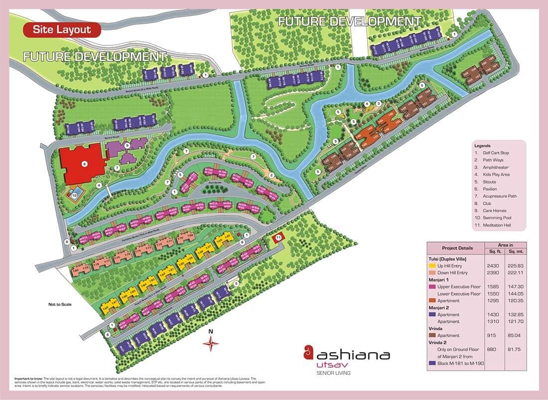 ashiana utsav lavasa apartments master plan image5