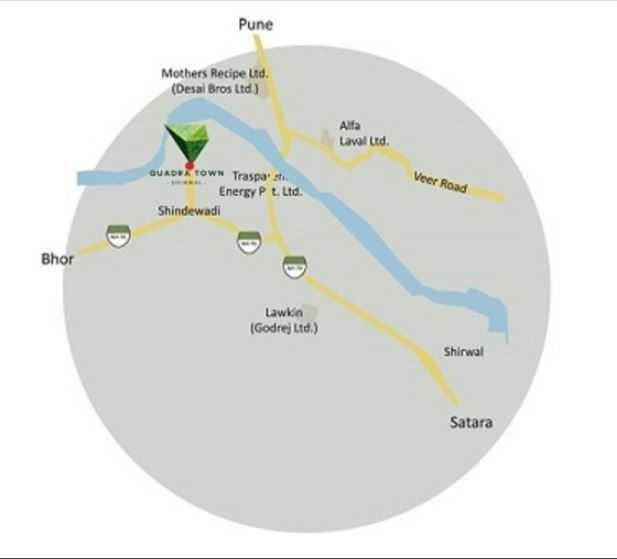 bhujbal quadra town project location image1