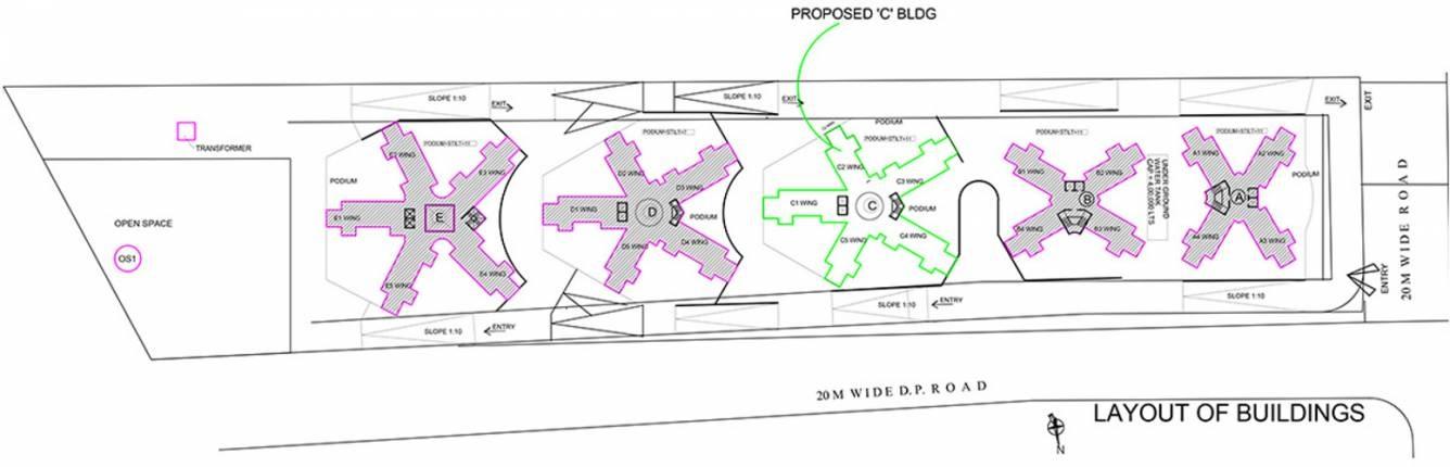 bramha exuberance project master plan image1