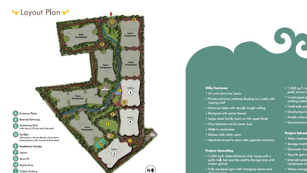 gera greens ville sky villas project master plan image1