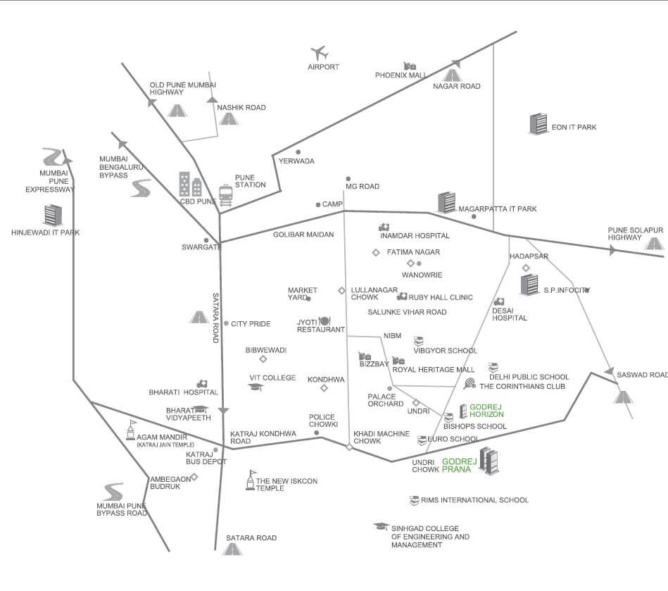 godrej prana location image1