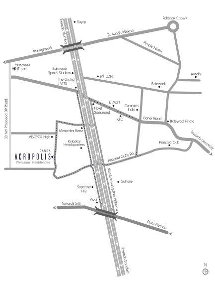 goel ganga acropolis location image5