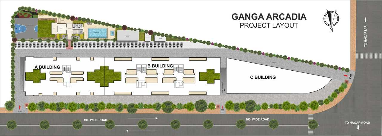 goel ganga arcadia c building master plan image6