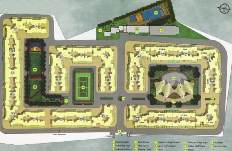 goel ganga constellaa villa master plan image5