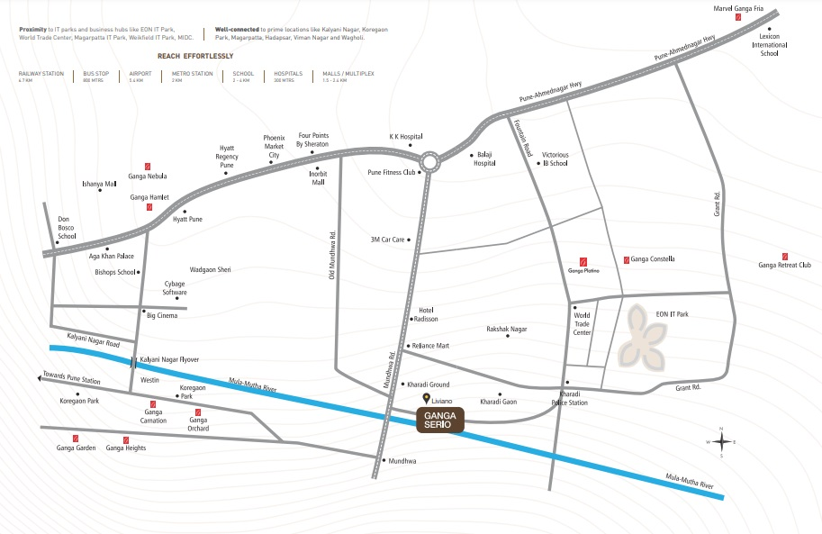 goel ganga serio project location image1