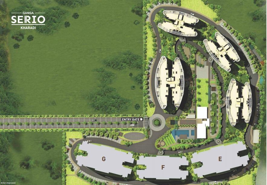 goel ganga serio project master plan image1