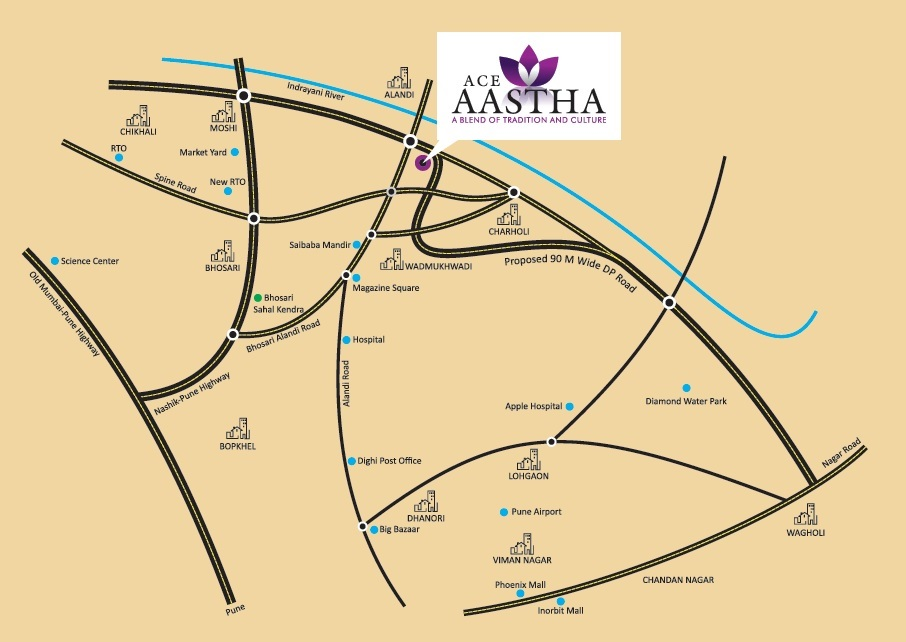 jhamtani ace aastha project location image1