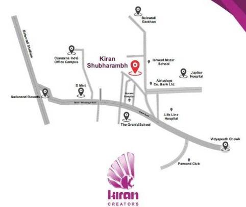 kiran shubharambh project location image1