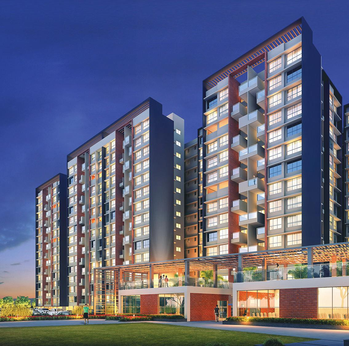 kohinoor coral phase 3 project tower view1