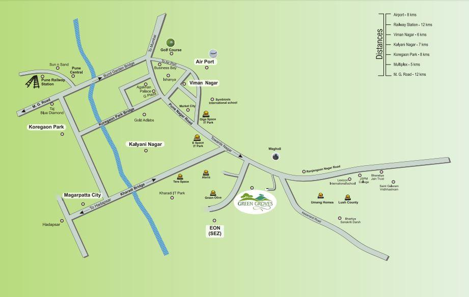 kolte patil green groves villa project location image1