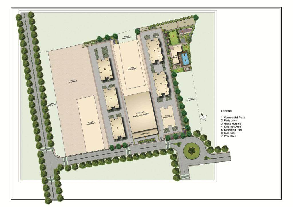 kolte patil life republic 16th avenue arezo master plan image1