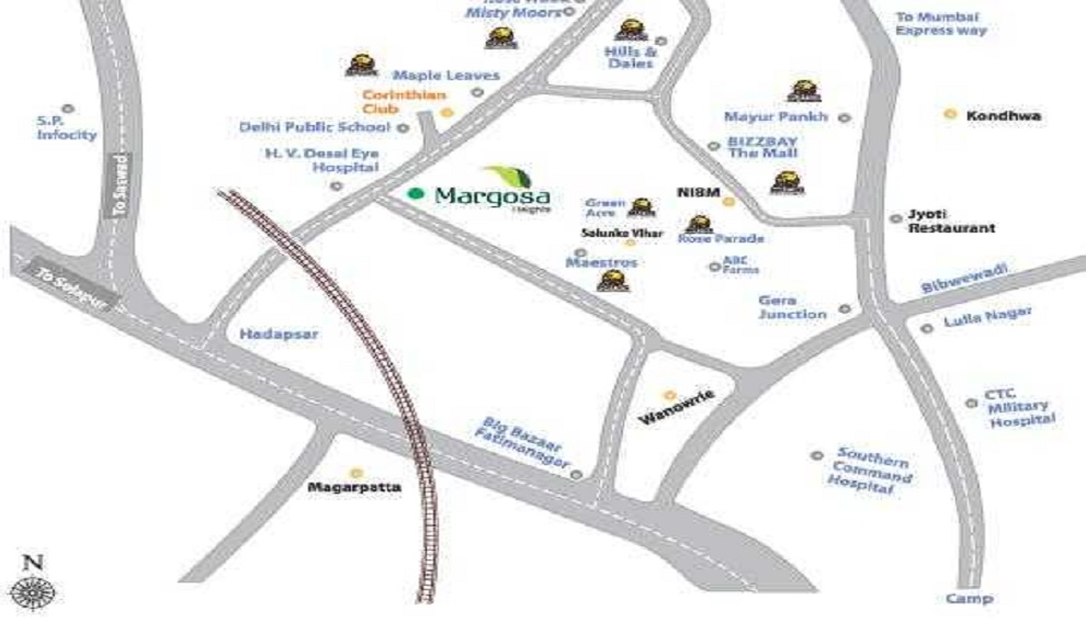 kolte patil margosa heights project location image1