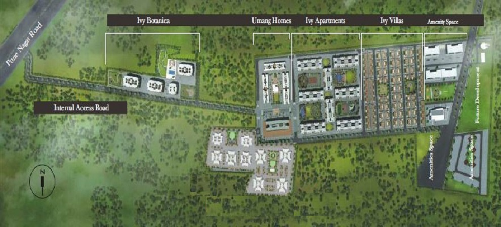 kolte patil umang homes phase 1 project master plan image1