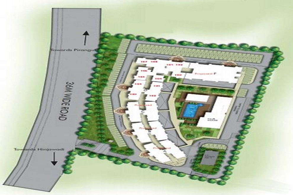 kumar megapolis project master plan image1