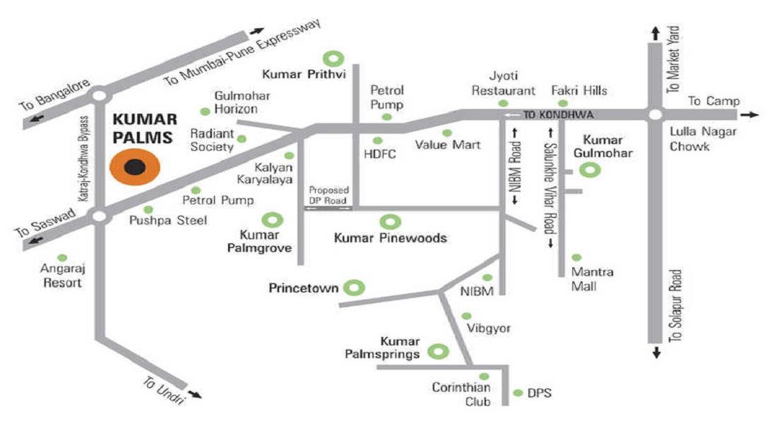 kumar palms project location image1