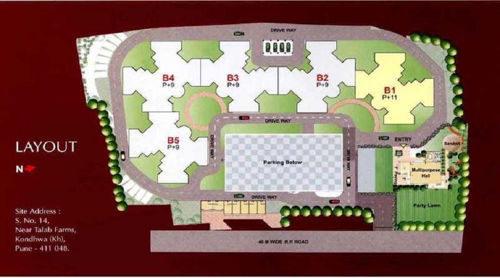 kumar palms project master plan image1