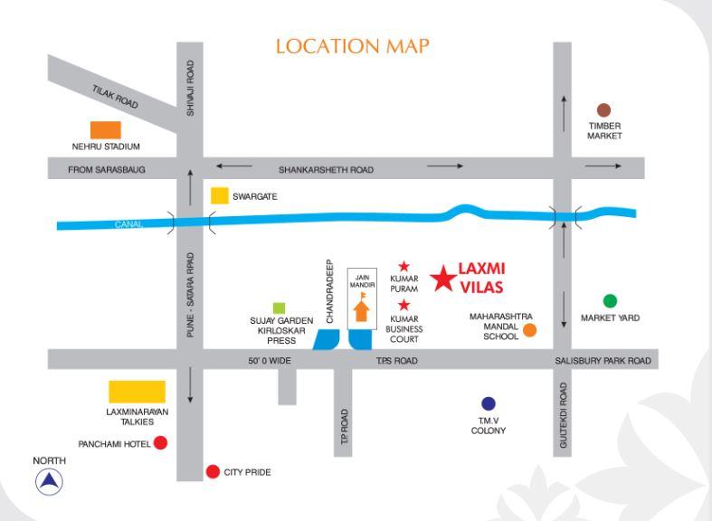 kumar urban laxmi villas location image5