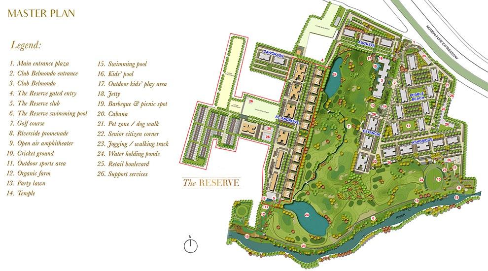 lodha belmondo villa project master plan image1