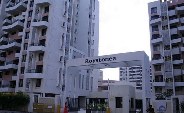 magarpatta city roystonea project entrance view1