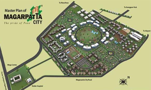 magarpatta city roystonea project master plan image1