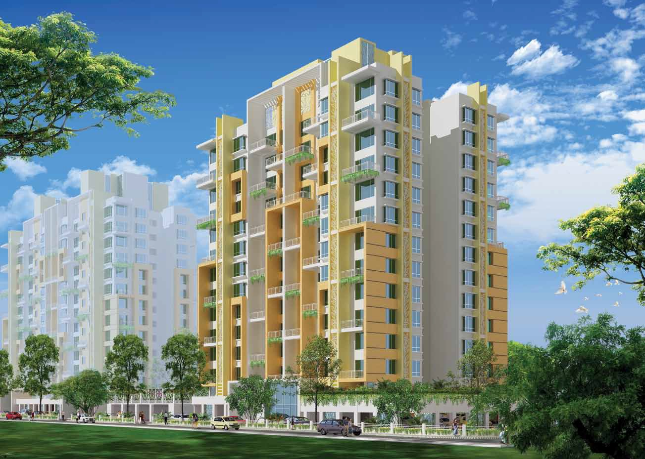 omega mantri eternity plus project tower view1