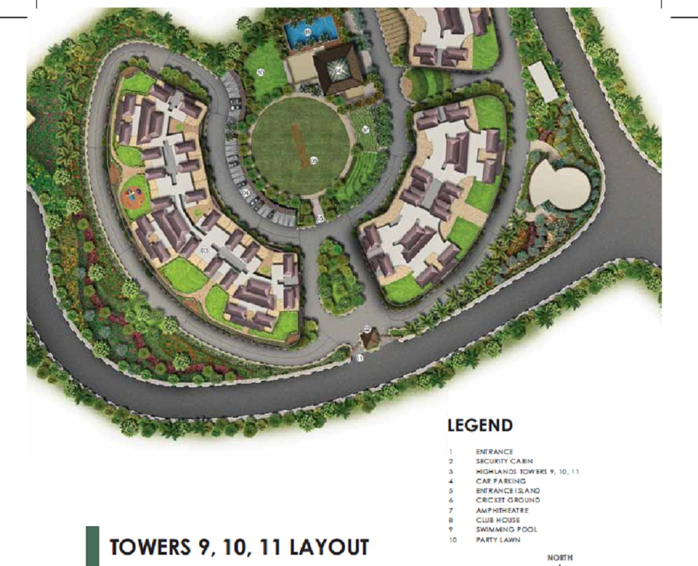 paranjape forest trails highland tower 9 10 and 11 project master plan image1