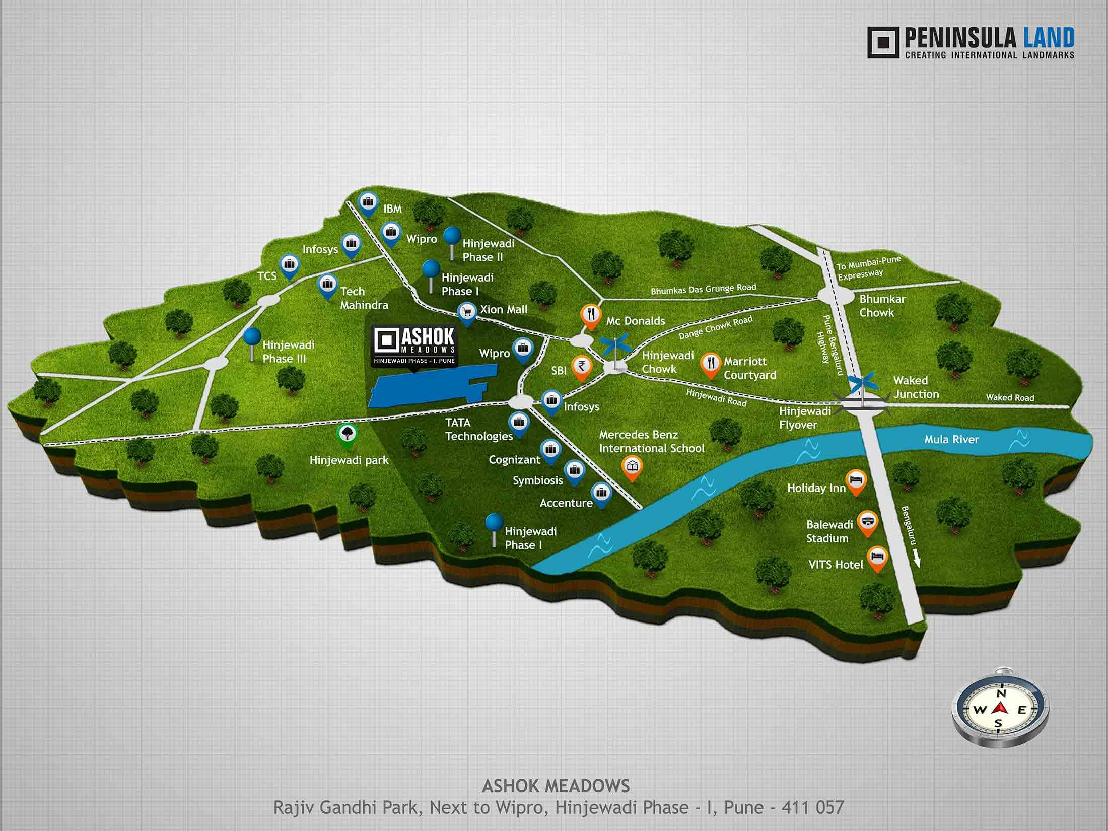 peninsula ashok meadows location image1