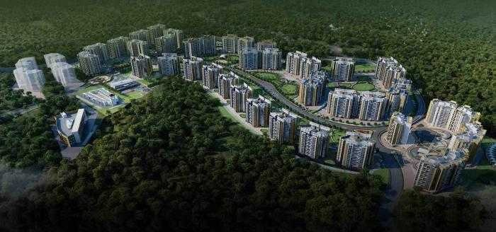 pride mega township project tower view1