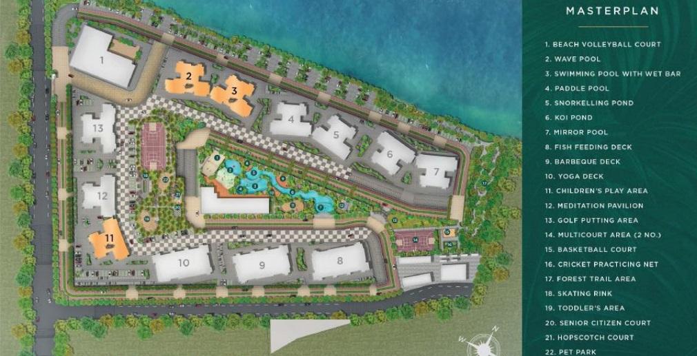 purvankara emerald bay project master plan image1