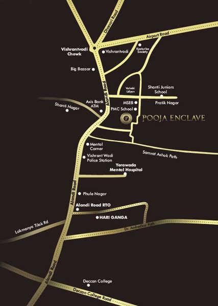 pushpganga pooja enclave project location image1