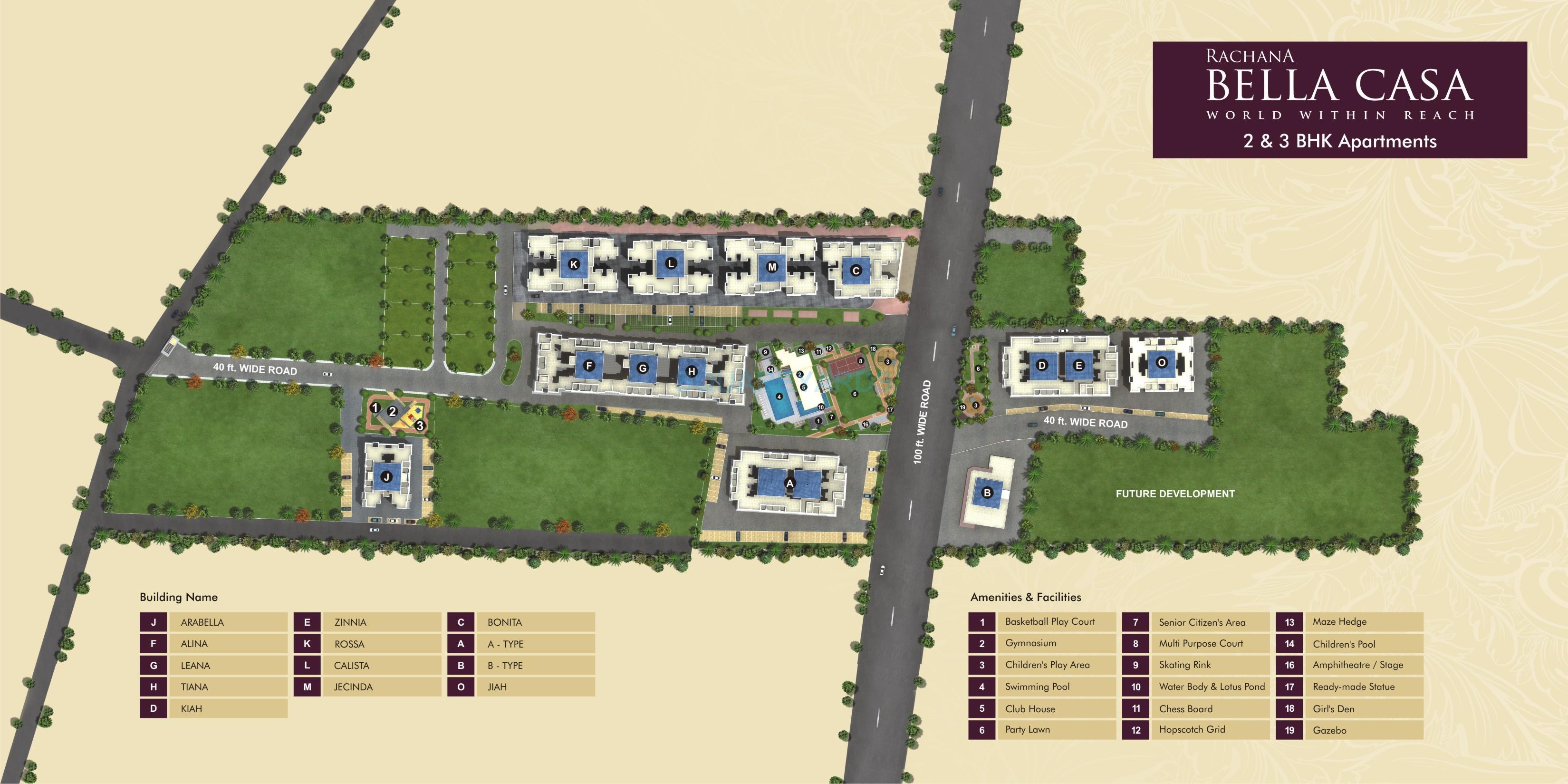 rachna lifestyle bella casa master plan image1