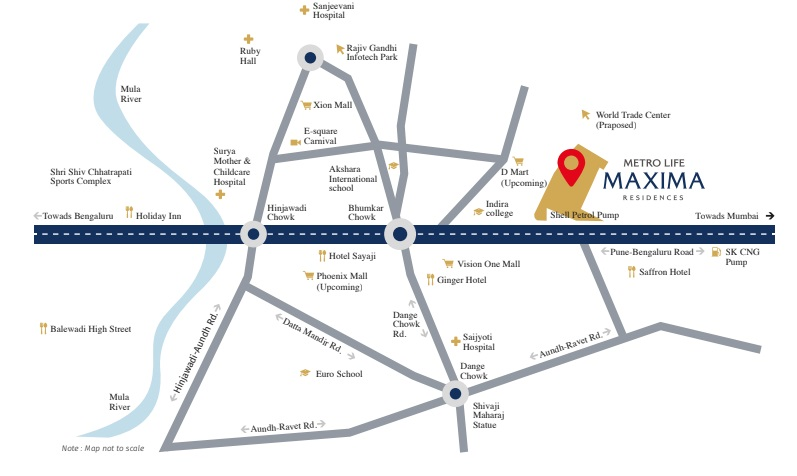 rama metro life maxima residences project location image1