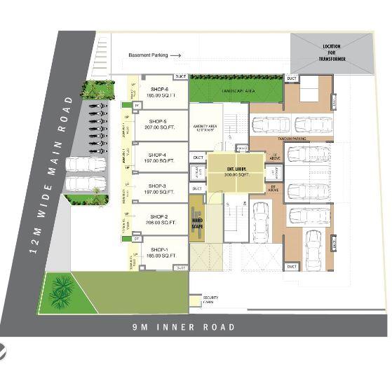 raviraj green clouds master plan image6