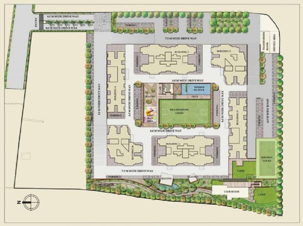 saheel itrend homes project master plan image1