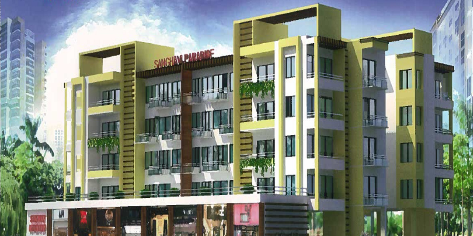 sanghavi paradise a building project large image1
