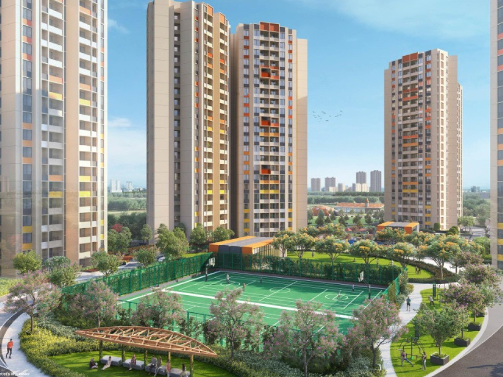 shapoorji pallonji joyville hadapsar annexe  project tower view2