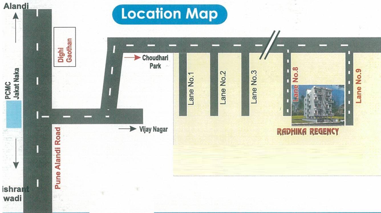 shree samarth radhika regency project location image1