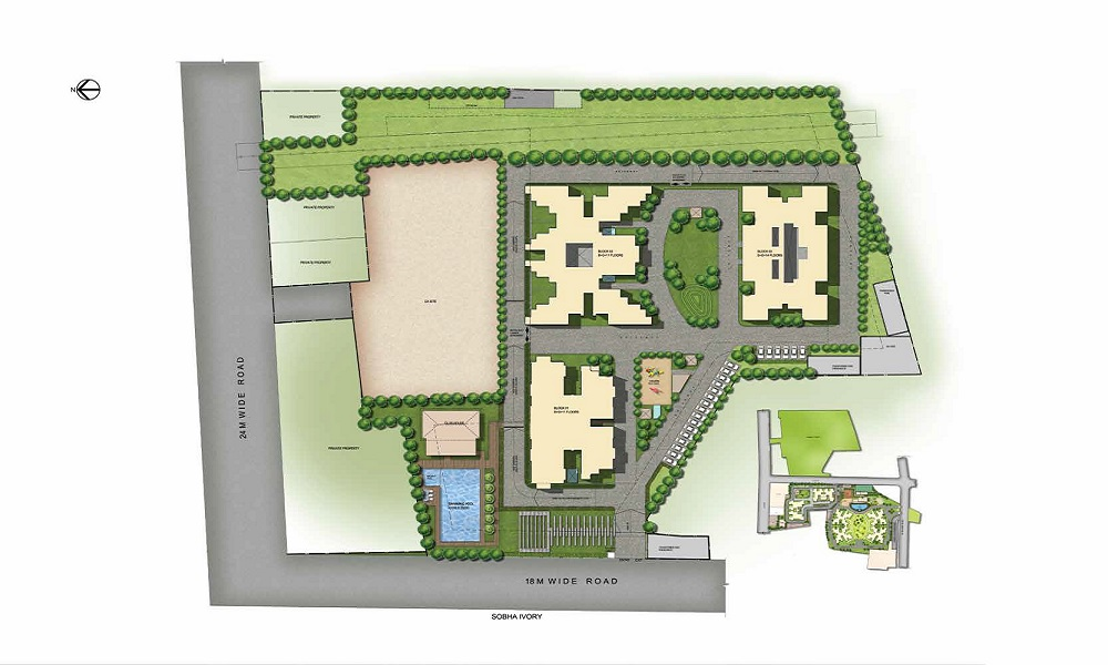 sobha orion project master plan image1