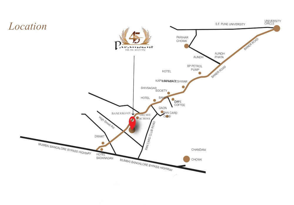 tapashree 45 paramount project location image1