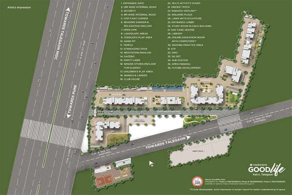 vascon goodlife phase b project master plan image1