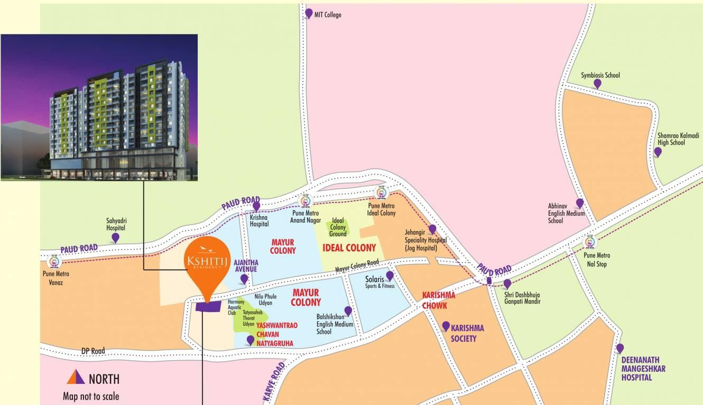 yash kshitij residency project location image1