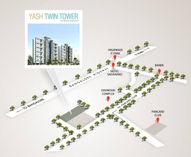 yash twin tower location image1
