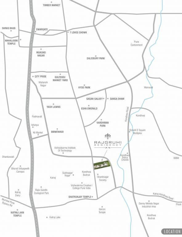 yuvraj rajgruhi residency project location image1