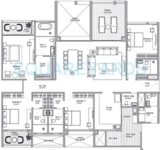abil clover verde apartment 4bhk 4040sqft 9853